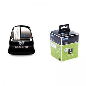 Dymo LabelWriter 450 Imprimante d'Etiquettes USB + Étiquettes d'Adresse Autocollantes Grand Format, 36 mm x 89 mm, Rouleau de 260, Lot de 2 de la marque image 0 produit