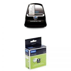 Dymo LabelWriter 450 Imprimante d'Étiquettes USB + 2 Rouleaux de 500 Étiquettes d'Adresse Retour Grand Format, 25 mm x 54 mm de la marque DYMO image 0 produit
