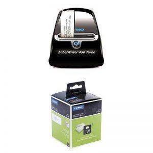 Dymo LabelWriter 450 Turbo Imprimante d'Etiquettes USB + 4 Rouleaux de 260 Étiquettes d'Adresse Grand Format, 36 mm x 89 mm de la marque DYMO image 0 produit