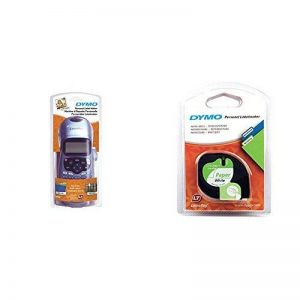 Dymo LetraTag LT-100H Plus Étiqueteuse Portable avec support mural aimanté + Dymo LetraTag Ruban Papier 1,2 cm x 4 m - Noir sur Blanc de la marque image 0 produit