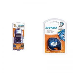 Dymo LetraTag LT-100H Plus Étiqueteuse Portable avec support mural aimanté + Dymo LetraTag Ruban Plastique 1,2 cm x 4 m - Noir sur Blanc de la marque image 0 produit