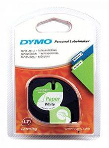 Dymo LetraTag Ruban Papier 1,2 cm x 4 m - Noir sur Blanc de la marque DYMO image 0 produit