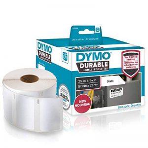 DYMOLW Étiquettes industrielles résistantes pour étiqueteuses LabelWriter, plastique blanc, 57x32mm, rouleau de 800 (1933084) de la marque DYMO image 0 produit