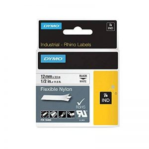 Dymo Rhino Etiquettes Industrielles Nylon Flexible 12mm x 3,5m - Noir sur Blanc de la marque DYMO image 0 produit