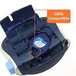 Dymo Ruban, 5x Recharge Dymo LetraTag Ruban Plastique 12 mm x 4 m Noir sur Blanc, Compatible pour Dymo LetraTag LT-100H LT-100T Étiqueteuse Portable de la marque Aken image 1 produit