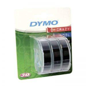 Dymo Ruban de Marquage 3D 9 mm x 3 m - Blanc sur Noir (Lot de 3) de la marque DYMO image 0 produit