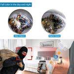 Easy Tech Caméra WIFI Ampoule 1080P - Caméra Fisheye sans fil à grand angle de 360 pour la Sécurité à la Maison de la marque EasyTech image 3 produit
