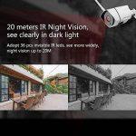 Ebitcam 1080P HD WiFi Caméra IP Extérieur,Caméra de Sécurité sans Fil,Etanche IP66,Vision Nocturne,Détection de Mouvement,Image en Temps réel Lisse de la marque image 2 produit