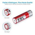 EBL lot de 4 piles rechargeables 18650 capacité réelle 2300mAh 3.7V Li-ion pile rechargeable de la marque EBL image 3 produit