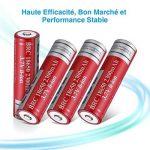 EBL lot de 4 piles rechargeables 18650 capacité réelle 2300mAh 3.7V Li-ion pile rechargeable de la marque EBL image 4 produit