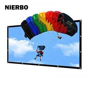 Écran de Projection, NIERBO Écran de Projection Anti-Pliage 120 Pouces 16:9 Portable Simple Extérieur Écran pour Vidéoprojecteurs 290x163cm de la marque NIERBO image 0 produit