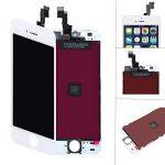 Écran LCD Display Vitre Tactile Numérique Remplacement Pour montage Complet Avec Kit d'outils De Réparation (4.0 Pouces) + Protection d'écran Pour iPhone 5s (blanc) par KXC ST de la marque KXC ST image 1 produit