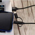 Efanty 3 en 1 Câble de Chargeur Multi-Câble, Universel (Lightning/Type-C/Micro USB) pour iPhone iPad Samgung Huawei - (1M, Noir de la marque Efanty image 4 produit