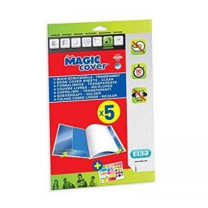 Elba - 400008903 - Magic Cover 5 Feuilles Couvre-Livres Prêtes à l'Emploi PVC A4 Incolore de la marque Elba image 0 produit