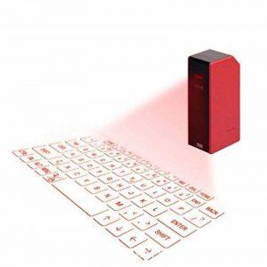 ELEGENCE-Z Clavier De Projection, Portable Rouge Clavier Virtuel De Projection Connexion Bluetooth Souris sans Fil Direct Voix Mobile Tablet PC De Diffusion (78 * 38 * 25) de la marque ELEGENCE-Z image 0 produit
