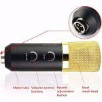 Elegiant Micro professionnel de studio à condensateur, transmission audio, enregistrement, ensemble micro de studio pour diffuser, chanter, avec support pour ordinateur portable et Skype, or noir de la marque ELEGIANT image 2 produit