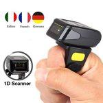 Elikliv Eyoyo Mini Scanner Bluetooth sans fil Handheld MJ-R30 sur Anneau de Doigt Barcode Lecteur de Code à Barre pour Android, pour iOS et Windows de la marque Eyoyo image 1 produit