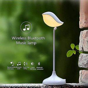 Elinkume® Lampe de Bureau LED, Lampe de Table, Lampe de Lecture avec Luminosité réglable, Port USB de Recharge, Lumière Douce pour Meilleure Protection les Yeux,La connexion Bluetooth sans fil,Musique Lampe de table de la marque ELINKUME image 0 produit