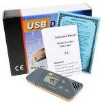 Enregistreur numérique USB Humidité / Température / Pression Baromètre enregistreur de données, Plug and play, Générer PDF et Excel, 6 langues, pHa, inHg, ℉, ℃ et HR de la marque TekcoPlus image 1 produit