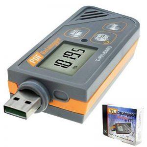 Enregistreur numérique USB Humidité / Température / Pression Baromètre enregistreur de données, Plug and play, Générer PDF et Excel, 6 langues, pHa, inHg, ℉, ℃ et HR de la marque TekcoPlus image 0 produit