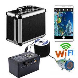 Enregistreur vidéo d'appareil-photo de pêche sous-marine sans fil de HD 30M pour l'APP d'IOS Android soutient l'enregistrement visuel et prennent la photo, lumières de lampe infrarouges de 12 PCs de la marque FFANDESHIJIE image 0 produit