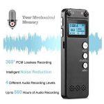 Enregistreur vocal, Chengstore 8Go Audio son Enregistreur portable dictaphone Activation vocale Enregistreur avec lecteur MP3A-B répétition de réduction du bruit d'enregistrement HD de la marque Chengstore image 3 produit