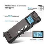 Enregistreur vocal, Chengstore 8Go Audio son Enregistreur portable dictaphone Activation vocale Enregistreur avec lecteur MP3A-B répétition de réduction du bruit d'enregistrement HD de la marque Chengstore image 4 produit