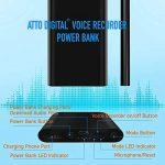 Enregistreur Vocal dans Power Bank Functional | Enregistreur Audio à Commande Vocale 3 en 1 | Chargeur Portable 5000 mAh - Autonomie de 380 heures | 8Go de mémoire | poweREC de aTTo Digital de la marque aTTo Digital image 4 produit
