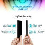 Enregistreur Vocal dans Power Bank Functional   Enregistreur Audio à Commande Vocale 3 en 1   Chargeur Portable 5000 mAh - Autonomie de 380 heures   8Go de mémoire   poweREC de aTTo Digital de la marque aTTo Digital image 3 produit