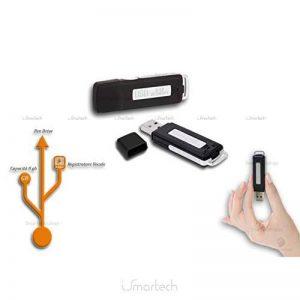 Enregistreur vocal espion Pen Drive Disque Mini 8Go portable USB Audio Voice Recorder Dictaphone de la marque Smartechnology image 0 produit