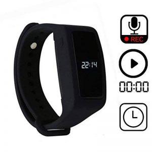 enregistreur vocal numérique de bracelet,eoqo® bracelet 8 Go activé par la voix,Enregistreur audio à annulation de bruit pour les conférences, réunions, cours, entrevues (Noir) de la marque eoqo image 0 produit