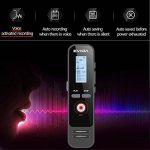 Enregistreur Vocal Numérique avec Chargement Rapide par EVIDA,8G 580 Heures 1536Kbps PCM Activation Vocale Enregistrement 1 Bouton Enregistrer/Enregistré Facile à Installer Lecteur MP3 Intégré (EV51 avec une charge rapide) de la marque EVIDA image 3 produit