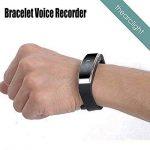 Enregistreur vocal numérique de 8 Go de LWD, Dictaphone de bande de montre-bracelet, enregistreur portatif de bracelet, rechargeable, s'appliquent à la réunion, à la conférence, à la conversation, à l de la marque LWD image 2 produit