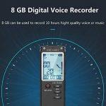 Enregistreur vocal numérique, DREAMRY 8GB 1536Kbps USB Audio Enregistreur audio Enregistrement HD portable multifonctionnel Double Microphone Rechargeable Dictaphone Annulation/Voix activée/écran de la marque DREAMRY image 2 produit