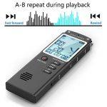 Enregistreur vocal numérique, DREAMRY 8GB 1536Kbps USB Audio Enregistreur audio Enregistrement HD portable multifonctionnel Double Microphone Rechargeable Dictaphone Annulation/Voix activée/écran de la marque DREAMRY image 4 produit