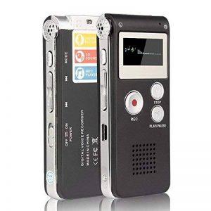 Enregistreur vocal numérique rechargeable ANTCOOL (R) avec mini-port USB, lecteur de musique MP3 multifonctions et dictaphone, avec carte mémoire interne de 8 Go (noir) de la marque ANTCOOL image 0 produit