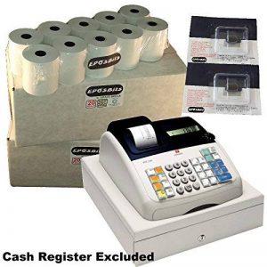 eposbits® Marque 40rouleaux + 2x d'encre pour Olivetti ECR7100ECR 7100Caisse enregistreuse de la marque EPOSBITS image 0 produit