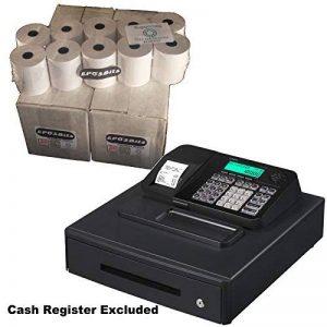 eposbits® Marque rouleaux de Casio se-s100ses100ses se S100100Caisse enregistreuse Noir Grand tiroir?40rouleaux de la marque EPOSBITS image 0 produit