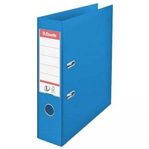 Esselte Classeur à Levier, pour l'Archivage, Couverture Plastique, A4, Dos 7,5cm, Bleu, N°1 Power Vivida 624067 de la marque Esselte Group image 0 produit