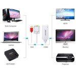 eSynic Convertisseur VGA vers HDMI, Câble Adaptateur VGA HDMI USB Blanc Pour PC Ordinateur Portable DVD Blu-ray vers HDTV Vidéo-Projecteur Moniteur HD de la marque eSynic image 1 produit