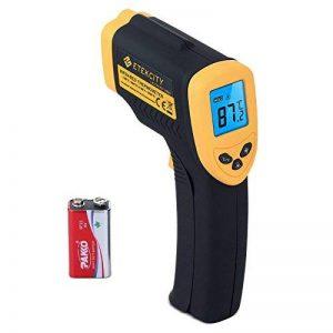 Etekcity 1080 Thermomètre Infrarouge Sans Contact Laser de -50°C à 550°C avec Ecran LCD Rétroéclairé, Pile fournie, Garantie 2 Ans, Jaune de la marque ETEKCITY image 0 produit
