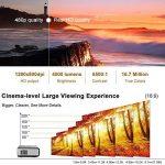 Eug 4000 Lumen LED LCD Android projecteur sans fil Wi-Fi Home Theater 1080p soutien HDMI Cable pour lecteur DVD iPad ordinateur portable téléphone portable, jeux vidéo de divertissement en plein air(Fiche britannique, manuel en anglais) de la marque EUG image 2 produit