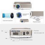 EUG 5000Lumen Android LED LCD Projecteur WXGA 1080p Wifi Home Cinéma Proyectors Sans Fil pour Smartphone iOS, Mulitmédia HDMI USB VGA pour Jeux Vidéo TV Extérieure Moive (Fiche britannique, manuel en anglais) de la marque EUG image 2 produit