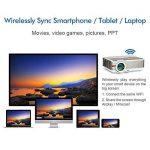 EUG 5000Lumen Android LED LCD Projecteur WXGA 1080p Wifi Home Cinéma Proyectors Sans Fil pour Smartphone iOS, Mulitmédia HDMI USB VGA pour Jeux Vidéo TV Extérieure Moive (Fiche britannique, manuel en anglais) de la marque EUG image 3 produit