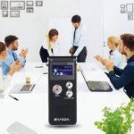 EVIDA Enregistreur vocal numérique de 8 Go intégré Lecteur de musique MP3, Dictaphone audio noir, Lecteur de dictaphone super léger rechargeable multifonction avec intégré 0.5W clairement Haut-parleur de la marque EVIDA image 4 produit