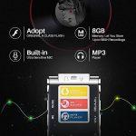 EVIDA Enregistreur vocal numérique de 8 Go intégré Lecteur de musique MP3, Dictaphone audio noir, Lecteur de dictaphone super léger rechargeable multifonction avec intégré 0.5W clairement Haut-parleur de la marque EVIDA image 3 produit