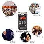 EVISTR Enregistreur de Voix Numérique(Papier manuel mis à jour!) Activé 8Go Son de Haute Qualité Pour le Dictaphone Portable Enregistreur 1536 Kbps PCM Linéarité Stéréo Voice Recorder étiquetage D'enregistrer Signet Avec MP3 Player Dual Microphone de la m image 4 produit