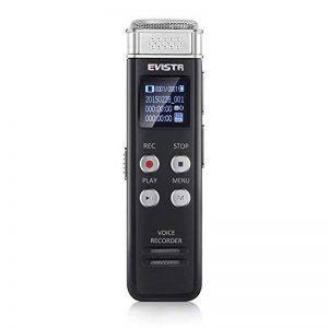 EVISTR Enregistreur vocal numérique compact de 8 Go Mini enregistreur audio portable avec lecteur de musique MP3 46 heures d'enregistrement PCM Enregistrement de fichier en temps réel de la marque Evistr image 0 produit