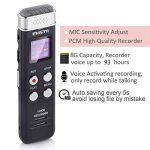 EVISTR Enregistreur vocal numérique compact de 8 Go Mini enregistreur audio portable avec lecteur de musique MP3 46 heures d'enregistrement PCM Enregistrement de fichier en temps réel de la marque Evistr image 2 produit