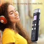 EVISTR Enregistreur vocal numérique compact de 8 Go Mini enregistreur audio portable avec lecteur de musique MP3 46 heures d'enregistrement PCM Enregistrement de fichier en temps réel de la marque Evistr image 4 produit